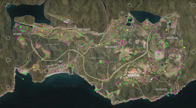Карта сокровищ для Forza Horizon 2